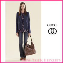 GUCCI★グッチ★素敵!Dark Blue Linen Cotton  Jacket