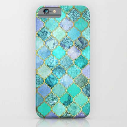 Society6 iPhone・スマホケース Society6 ケース Cool Jade & Icy Mint Decorative Moroccan Til