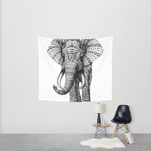 Society6◆タペストリー◆Ornate Elephant by BIOWORKZ