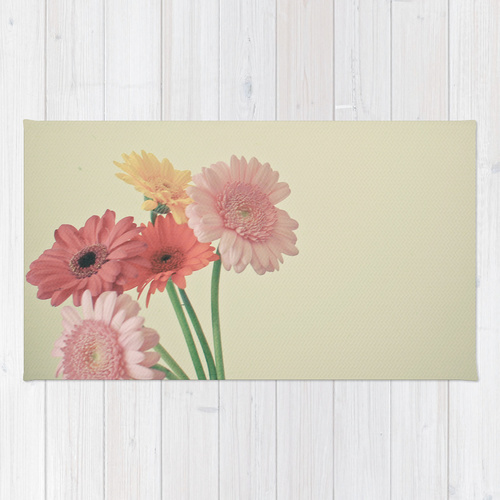 Society6◆洗えるラグマット◆A Bunch of Daisies by Cassia B