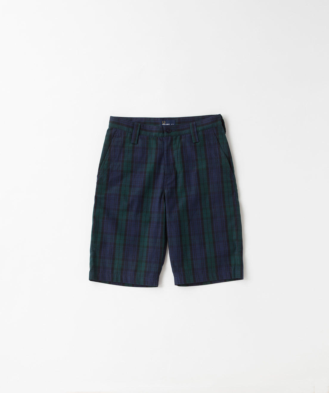 フレッドペリー F4349 01 MEN'S CHECK HALF PANTS BLACK WATCH