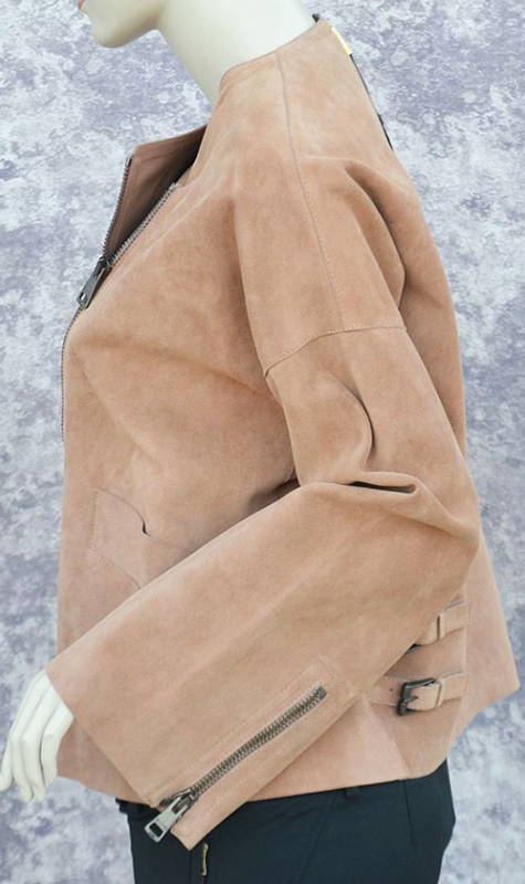 GUCCI★グッチ★PALE PEACH SUEDE LEATHER OVERSIZED JACKET