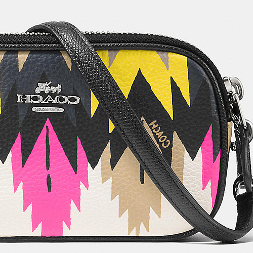 COACH★CROSSBODY POUCH IN PRINTED CROSSGRAIN LEATHER♪
