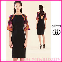 GUCCI★グッチ★素敵! STAINED GLASS FLUTTER SLEEVES DRESS