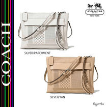 COACH★BLEECKER FELICIA CROSSBODY IN STRIPED PERFORATED
