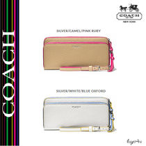 Coach★DOUBLE ZIP ACCORDION WALLET EDGEPAINT LEATHER