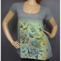 即発[REBEL YELL RAW FOOTBALL TEE【AIRBRUSHED ROSES】