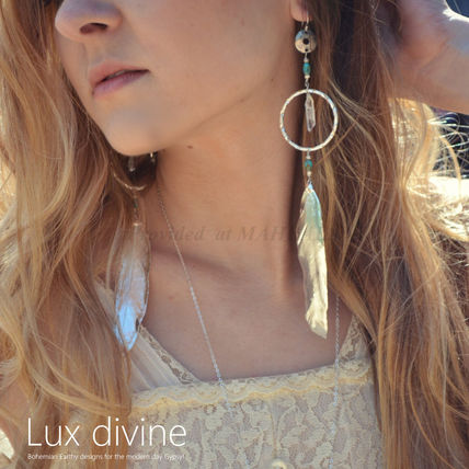 ★Crystal Feathers ピアス★GOLD/SILVER★Luxdivine