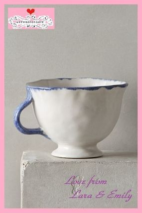 Anthro blue x wave is a beautiful simple mug Cup