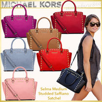 【日本未入荷】Michael Kors Selma Medium Satchel スタッズ 7色