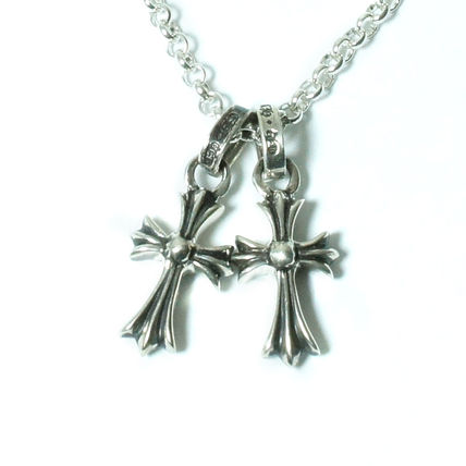 CHROME HEARTS ネックレス・チョーカー 3点セット!CHROME HEARTS シルバー ベビファ チャーム×2 + 24""