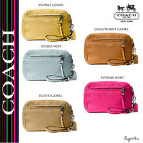 ★Coach★BLEECKER FLIGHT WRISTLET IN PEBBLED LEATHER