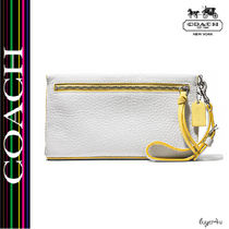 ★Coach★BLEECKER LARGE WRISTLET IN EDGEPAINT LEATHER