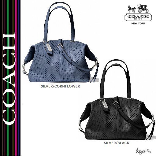 ★Coach★BLEECKER COOPER SATCHEL IN PERFORATED LEATHER