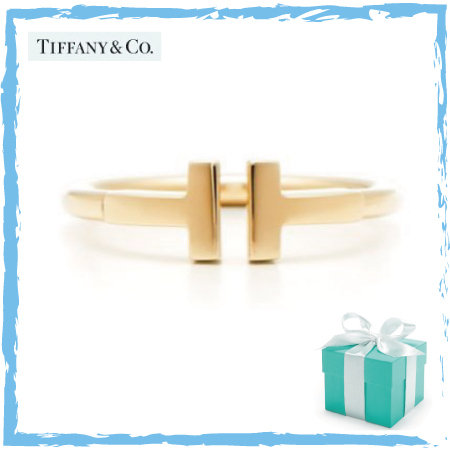 追跡付【Tiffany】Tiffany T Wire Ring 18K☆ゴールド