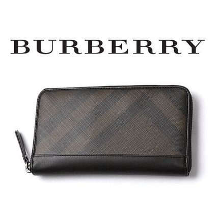 '15春夏 ☆Burberry☆ Smoked Check Ziparound長財布♪