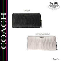 ★Coach★MADISON ACCORDION ZIP IN GATHERED LEATHER
