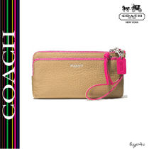 ★Coach★BLEECKER DOUBLE L-ZIP WALLET IN EDGEPAINT LEATHER