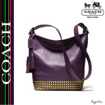 ★Coach★LEGACY DUFFLE IN STUDDED LEATHER