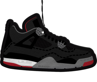 ソールド AIR JORDAN 4 AIR FRESHNER BLACK
