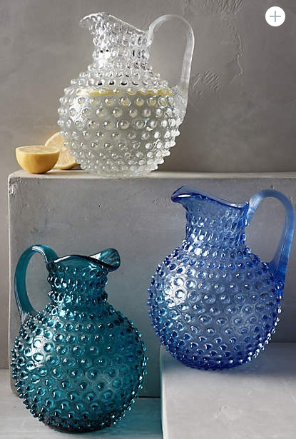 即納★Anthropologie★Hobnail Pitcher 水差しピッチャー