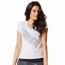 ☆ZUMBA・ズンバ☆Oh-So-Comfy Burn Out V Neck WH