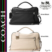 ★Coach★BLEECKER LARGE TOASTER SATCHEL IN PEBBLED LEATHER