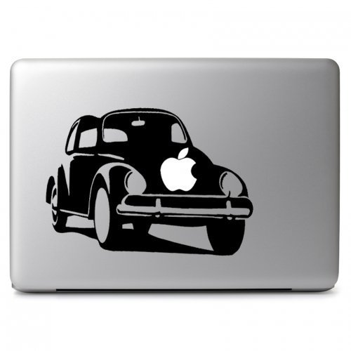 MacBook 対応 アートステッカー Apple Vintage Beetle Car