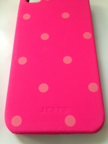 ★セール【J.CREW】LEATHER IPHONE 4/4S CASE
