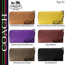 ★Coach★BLEECKER L-ZIP WALLET IN PEBBLED LEATHER