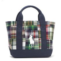 ラルフローレン TOTE BAG PLAID SMALL 959003 色:NAVY PLAID