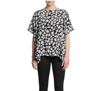 送料込:DVF好評♥New Hanky Printed Silk Top