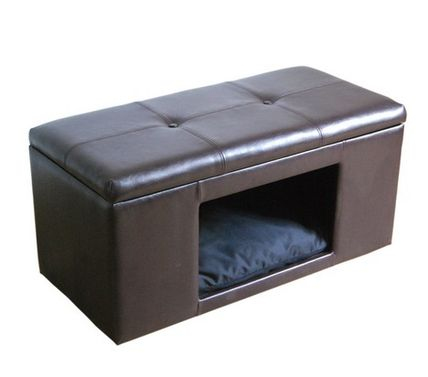 Become a bench dog bed pet bedhousebenchbrown
