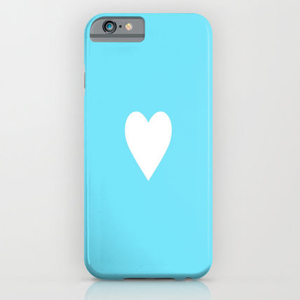 Society6 iPhone・スマホケース Society6 ケース Ocean Blue White Heart Love
