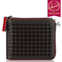TOPセラー賞受賞┃ルブタン┃Panettone spiked leather wallet