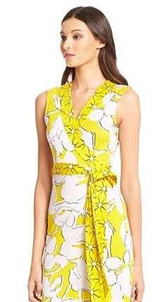 Sale New DVF Yahzi floral silk dress dress