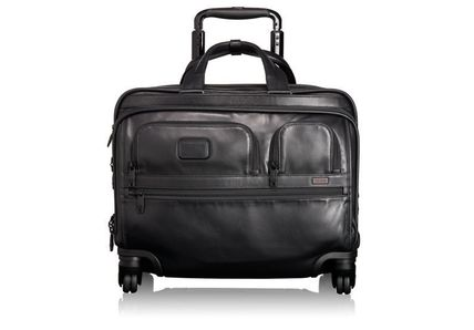 TUMI Alpha2 4Wheeled DLX Leather Brief w/Laptop Case #96627