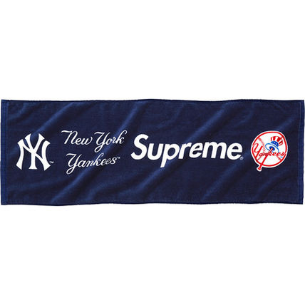 15s/s Supreme New York Yankees Hand Towel Navy