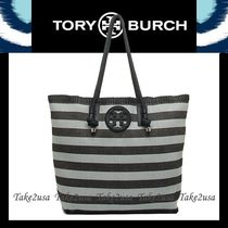 国発・追跡☆Tory Burch☆OVERSIZED STRIPE TOTE トートバッグ