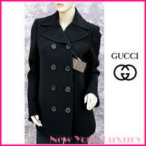 GUCCI★グッチ★素敵!Black PEACOAT Spring Fall Jacket