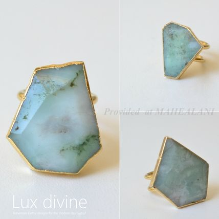 Double Banded Chrysoprase リング★GOLD★Luxdivine