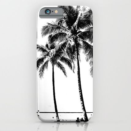Society6 iPhone・スマホケース Society6 ケース Black and White Palm Tree with Hawaii Summer
