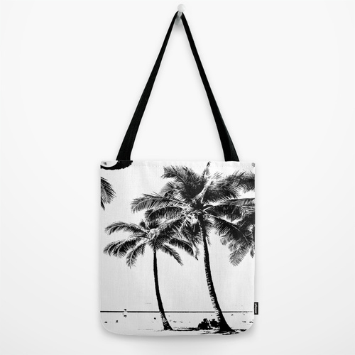 Society6◆トートバッグ◆M - 約40cm x 約40cm◆Black and White