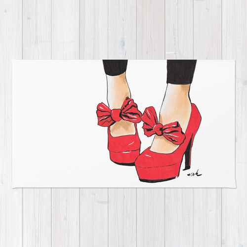 Society6◆洗えるラグマット◆Let's Dance by Anna Hammer