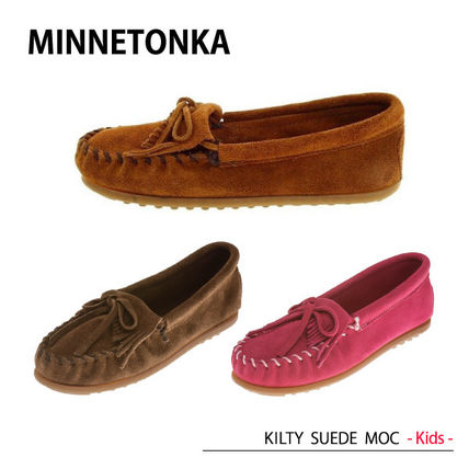 MINNETONKA KILTY SUEDE MOC Children's モカシン キッズ