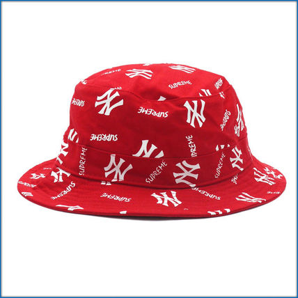15 S/S Supreme New York Yankees Crusher Hat Red サイズM/L