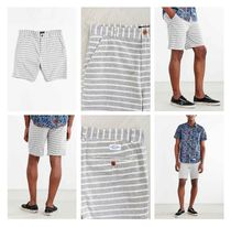 "Urban Outfitters★CPO9"" Crosby Chambray Stripe Short-Neutral"