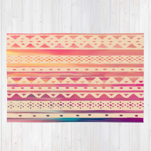 Society6◆洗えるラグマット◆SURF TRIBAL II by Nika
