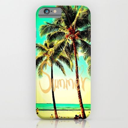 Society6 iPhone・スマホケース Society6 ケース Heart Green Yellow Vintage Palm Tree with Ha