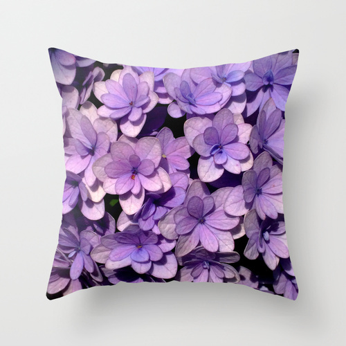Society6★クッションカバー★Cute Purple Flower Pattern